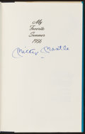 Baseball Collectibles:Publications, Mickey Mantle Signed My Favorite Summer 1956 Hardcover Book.. ...