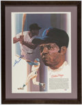 Autographs:Others, Willie Mays Signed Print. . ...