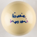 Autographs:Others, Willie Mosconi Signed Cue Ball.. ...