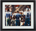 Autographs:Photos, Dallas Cowboys Hall of Famers Multi-Signed Photo Display - withIrvin, Smith, and Aikman.. ...