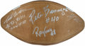 Autographs:Footballs, Oakland Raiders Greats Multi-Signed Football. . ...