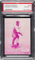Baseball Cards:Singles (1930-1939), 1934-36 Batter-Up Rogers Hornsby #35 PSA EX-MT 6. ...