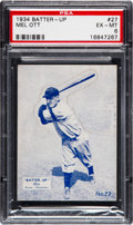 Baseball Cards:Singles (1930-1939), 1934-36 Batter-Up Mel Ott #27 PSA EX-MT 6. ...