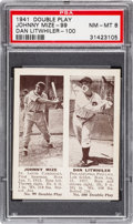 Baseball Cards:Singles (1940-1949), 1941 Double Play Mize/Litwhiler #99/100 PSA NM-MT 8 - Only One Higher. ...