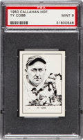 Baseball Cards:Singles (1950-1959), 1950-56 Callahan Ty Cobb PSA Mint 9 - Only One Higher....