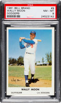 Baseball Cards:Singles (1960-1969), 1961 Bell Brand Dodgers Wally Moon #9 PSA NM-MT 8 - Pop Three, NoneHigher. ...