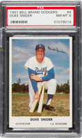 Baseball Cards:Singles (1960-1969), 1961 Bell Brand Dodgers Duke Snider #4 PSA NM-MT 8.