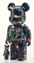 General Americana, BE@RBRICK X BBC. Starfield 400% and 100% (two works),2017. Painted cast vinyl. 11-3/4 x 7-3/4 x 4-3/4 inches (29.8 ...(Total: 2 Item)