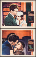 "Movie Posters:Drama, Ladies They Talk About (Warner Brothers, 1933). Lobby Cards (2)(11"" X 14""). Drama.. ... (Total: 2 Items)"
