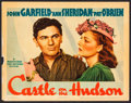 "Movie Posters:Crime, Castle on the Hudson (Warner Brothers, 1940). Linen Finish LobbyCard (11"" X 14""). Crime.. ..."