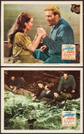 "Movie Posters:Hitchcock, Lifeboat (20th Century Fox, 1944). Lobby Cards (2) (11"" X 14"").Hitchcock.. ... (Total: 2 Items)"