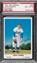 Baseball Cards:Singles (1960-1969), 1961 Bell Brand Dodgers John Podres #22 PSA NM-MT 8 - None Higher....