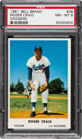 Baseball Cards:Singles (1960-1969), 1961 Bell Brand Dodgers Roger Craig #38 PSA NM-MT 8 - Pop Two, NoneHigher. ...