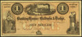 Obsoletes By State:Iowa, Council Bluffs, IA - Banking House of Baldwin & Dodge $1 185_Remainder Oakes 26-1. ...