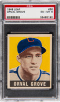 Baseball Cards:Singles (1940-1949), 1948 Leaf Orval Grove #66 PSA EX-MT 6. Graded P...