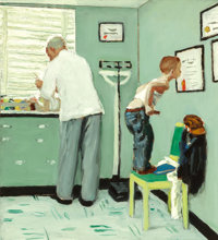 Norman Rockwell (American, 1894-1978) Before the Shot, The Saturday Evening Post cover study