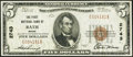 National Bank Notes:Maine, Bath, ME - $5 1929 Ty. 1 The First NB Ch. # 2743. ...