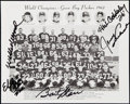 Autographs:Photos, 1962 Green Bay Packers Team Photo with 5 Signatures. ChampionshipSeason.. ...