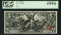 Large Size:Silver Certificates, Fr. 268 $5 1896 Silver Certificate PCGS Superb Gem New 67PPQ.. ...