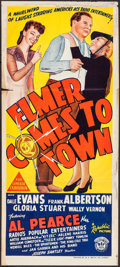"Movie Posters:Comedy, Here Comes Elmer (Republic, 1943). Australian Daybill (13"" X 30"").Alternate Title: Elmer Come to Town. Comedy.. ..."