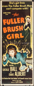 """Movie Posters:Comedy, The Fuller Brush Girl (Columbia, 1950). Insert (14"""" X 36"""").Comedy.. ..."""
