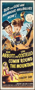 """Movie Posters:Comedy, Comin' Round the Mountain (Universal International, 1951). Insert (14"""" X 36""""). Comedy.. ..."""