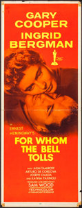 "Movie Posters:War, For Whom the Bell Tolls (Paramount, R-1957). Insert (14"" X 36"").War.. ..."