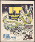 """Movie Posters:Science Fiction, It Came from Beneath the Sea (Columbia, 1955). Trimmed Window Card(14"""" X 17""""). Science Fiction.. ..."""