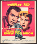 """Movie Posters:Hitchcock, The Man Who Knew Too Much (Paramount, 1956). Trimmed Window Card (14"""" X 16.75""""). Hitchcock.. ..."""