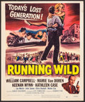 "Movie Posters:Bad Girl, Running Wild (Universal International, 1955). Trimmed Window Card(14"" X 17.25""). Bad Girl.. ..."
