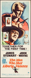 "Movie Posters:Western, The Man Who Shot Liberty Valance (Paramount, 1962). Insert (14"" X 36""). Western.. ..."
