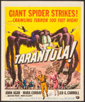 "Movie Posters:Science Fiction, Tarantula (Universal International, 1955). Trimmed Window Card (14""X 17""). Science Fiction.. ..."