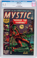 Golden Age (1938-1955):Horror, Mystic #17 (Atlas, 1953) CGC VG+ 4.5 Off-white pages....