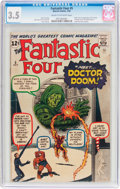 Silver Age (1956-1969):Superhero, Fantastic Four #5 (Marvel, 1962) CGC VG- 3.5 Cream to off-whitepages....