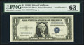 Small Size:Silver Certificates, Serial Number 1 Fr. 1614 $1 1935E Silver Certificate. PMG Choice Uncirculated 63.. ...