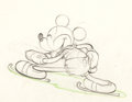 Animation Art:Production Drawing, On Ice Mickey Mouse Animation Drawin...