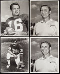 Football Collectibles:Photos, Vintage Football Photo Lot of 8, Many Type Is. . ...
