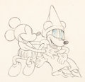 Animation Art:Production Drawing, Ye Olden Days Mickey Mouse and Minnie Mouse AnimationDrawing (Walt Disney, 1933). ...