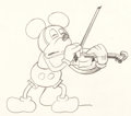 Animation Art:Production Drawing, Just Mickey (Fiddlin' Around) Mickey Mouse Animation Drawing (Walt Disney, 1930). ...