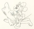 Animation Art:Production Drawing, Pluto's Sweater Minnie Mouse and Pluto Animation DrawingsGroup of 2 (Walt Disney, 1949). ...