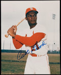 Autographs:Photos, Signed Curt Flood Color Photograph. ...