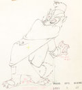 Animation Art:Production Drawing, Pinocchio Foulfellow Animation Drawing (Walt Disney, 1940)....