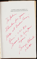 Autographs:Letters, George Blanda Signed Book.. ...
