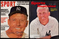 Autographs:Photos, Mickey Mantle Signed Magazine Cover Lot of 2.. ...