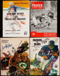 Autographs:Others, 1940s-1960s Green Bay Packers Signed Program Lot of 4 with BartStarr Cut Signature.. ...
