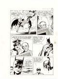 Original Comic Art:Panel Pages, Neal Adams and Dick Giordano Batman: Stacked Cards [Book and RecordSet] #PR27 Story Page 19 Joker Original Art (Power Records...