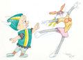 Animation Art:Production Drawing, Virgil Ross - Elmer Fudd and Bugs Bunny Drawing Original A...