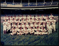 Autographs:Photos, 1957 Milwaukee Braves Team Signed Oversize Photo. '57 World SeriesChampions (24 Signatures). . ...