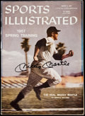 Autographs:Photos, Mickey Mantle Signed 1957 Sports Illustrated Magazine. . ...