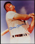 Autographs:Photos, Mickey Mantle Signed Oversized Photo. ...